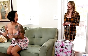 Your Step Daughter watching us?! - Katie Morgan, Quinn Wilde and Honey Aurous