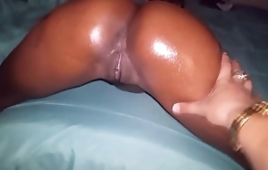Asian guy gives oiled chocolate booty a pounding