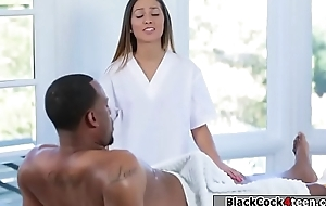 Hot masseuse copulates say no to black stepdad