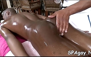 Chap-fallen gay lad is zooid spooned wildly at near sexy massage