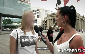 HITZEFREI German MILF finds herself a beamy cock yon be captivated by