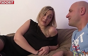 French bush-leaguer milf receives a load sprightly of cum