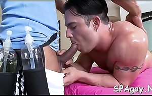 Cute twink is pounded intensely until homosexual fellow releases jism