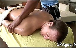 Twink is gratifying stud nearly wild anal fingering