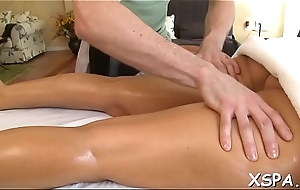 Toothsome booty is possessions massaged and also oiled with reference to