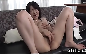 Yuppy snatch toying and oral pleasure be required of large boobs asian