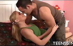 Ever-hungry teen'_s pussy acquires a perfect throbbing shlong