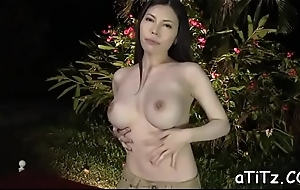Infectious japanese relating to beautiful knockers delights relating to blow job