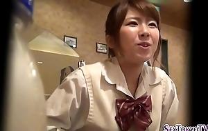 Scalding japanese legal age teenager rubs