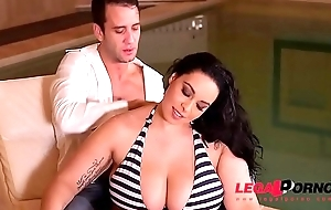 Anastasia Lux gets a catch brush gigantic mega titties fucked real hard by a catch pool GP324