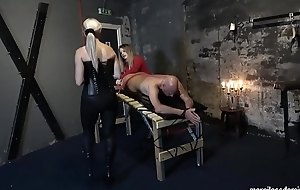 U Can'_t Get Away - Miss Jessica Wood and Miss Stalker Whipping Loud Slave