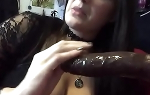 Teaser Amateur BBW playing here Spit Fetish Cuckold while Deepthroating