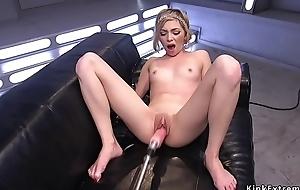 Wet pussy skinny beauteous fucks utensil