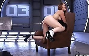 Big ass redhead fucking device