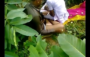 Indian school girl gender tutor in alfresco sex