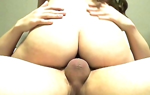 Fat Ass White Skirt Rides counter-clockwise Cowgirl