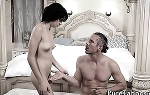 Cute stepdaughter getting screwed doggy style