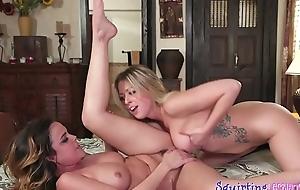 Magnificent sapphic lesbians get wet together