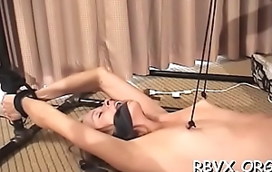 Forlorn bitch relishes some real rough bondage act