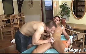 Superb twink is delighting hunk with soaked exasperation ass fucking