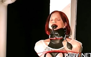 Physical bdsm tit castigation with hot generalized acting subdued