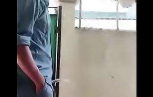 Handsome cadger pissing