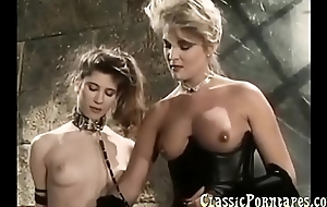 BDSM sex with slaves in retro porn