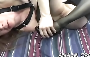 Superb scenes of female domination on a large rod