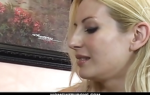 MomsWithBoys - Russian MILF Gets Will not hear of Saucy Black Bushwa