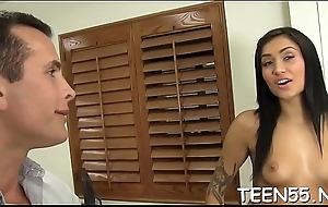 Cock-craving teen receives hold be fitting of a unstinted doyen shagging device