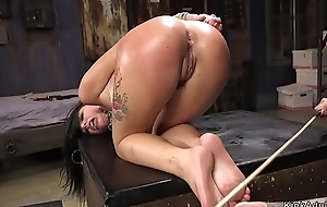 Hawt hyacinthine haired babe fucked at training