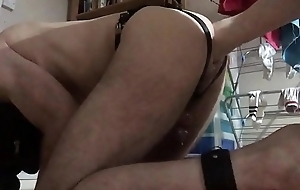Doggie is fisted alongside elbow by twink
