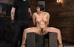 The man hairy Asian spanked with an increment of toyed