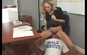Young but domineering secretary humiliates his big gun forcing him close to swept off one's feet her pest and pussy. www.lifecamgirls.com