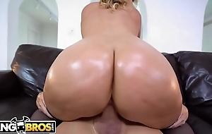 BANGBROS - Jazmyn Jerks Off Tyler Steel Surpassing Chubby Tits, Round Asses!