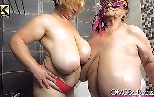 2 older ladies in all directions pompously tits