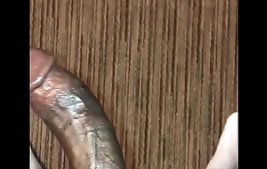 Wanking fat brotha's huge cock