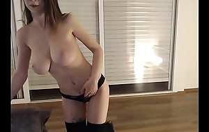 Young camgirl approximately near the end b drunk ass touching on the top of livecam