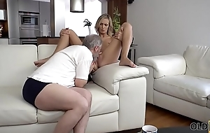 OLD4K. Grey daddy fingers wife'_s twat to prepare it be beneficial to nearing sex