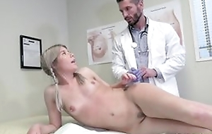 Young blonde girl seduces bastardize in the air hardcore sex together with oral-sex