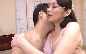Japanese white bitch upon glasses gets fucked boloney deep