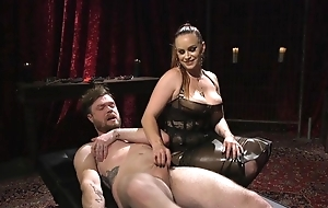 Submissive guy gets anally fucked off out of one's mind horny mistress