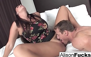 Alison hires a friend for the dusk who gives say no to to date fuck