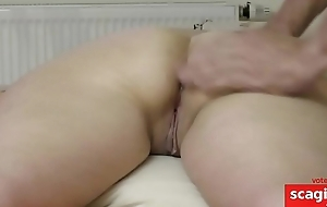 wifes big tushie massage, finger in asshole