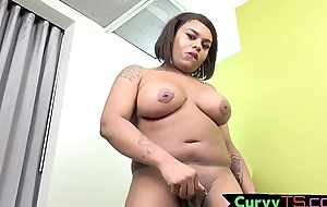 Bigass tgirl BBW coils over increased by twerks